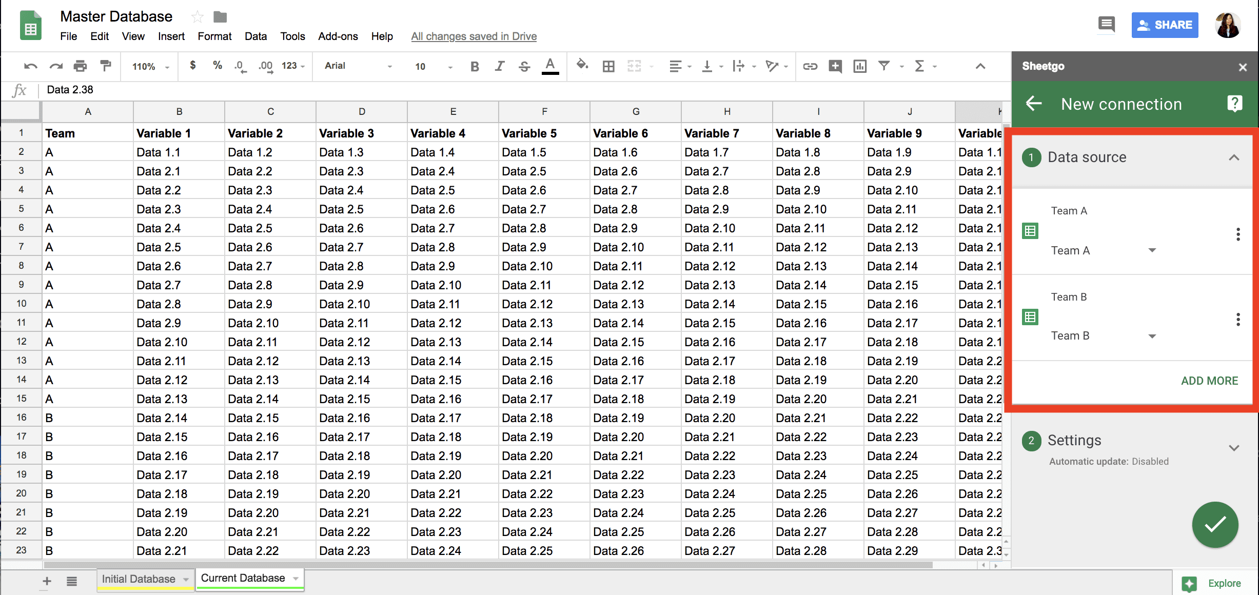 How to Connect Two Google Sheets: Master Database Example