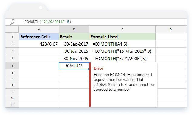 How to use the EOMONTH formula in Google Sheets - Blog Sheetgo