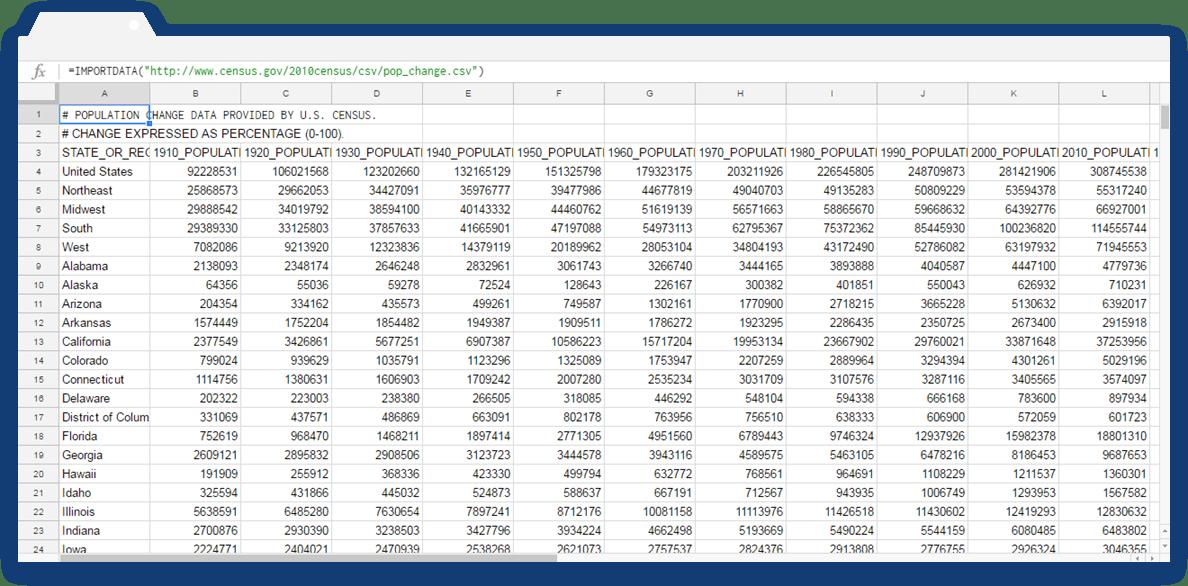 ARRAY_CONSTRAIN Formula: Importdata Example