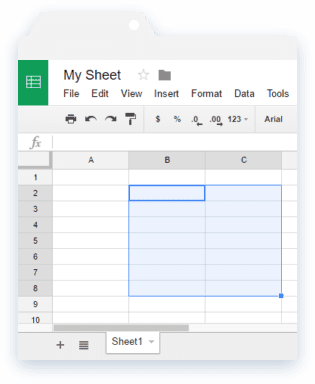 Importrange Google Sheets: Reference Range in Source Sheet