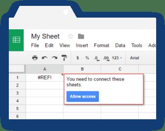 Importrange Google Sheets: Prompt Message for Linking Sheets