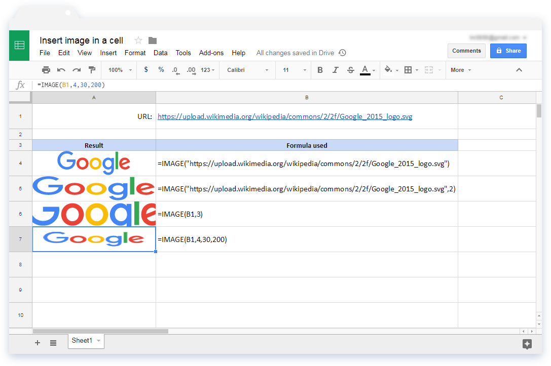 Google Sheets Image In Cell