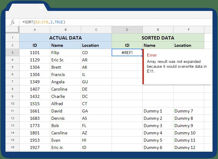 How to use the Google Sheets SORT formula - Blog Sheetgo