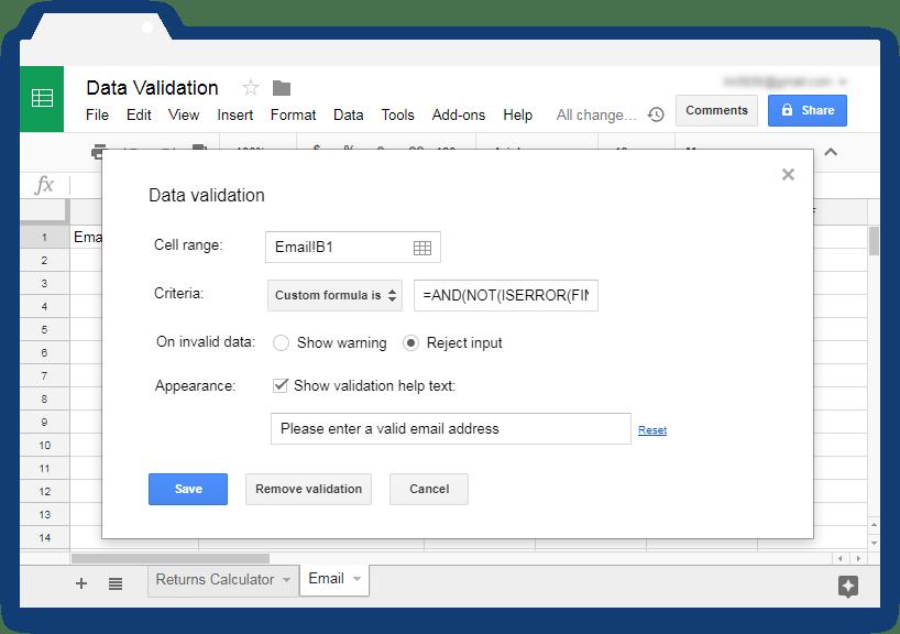 Validate input values in Google Sheets - Illustration 8