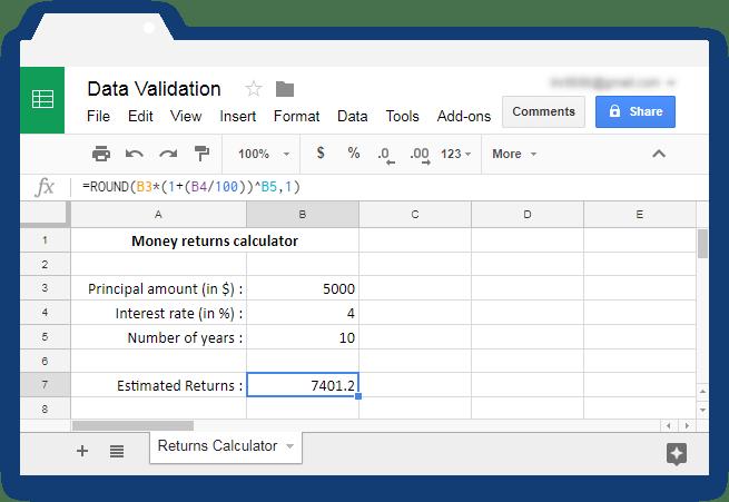 Validate input values in Google Sheets - Illustration 1