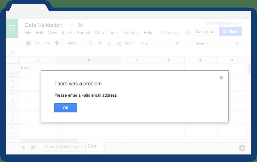 Validate input values in Google Sheets - Illustration 9