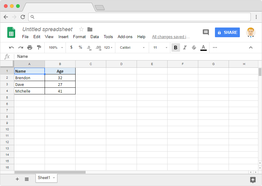 Excel to Google Sheets - Illustration 3b
