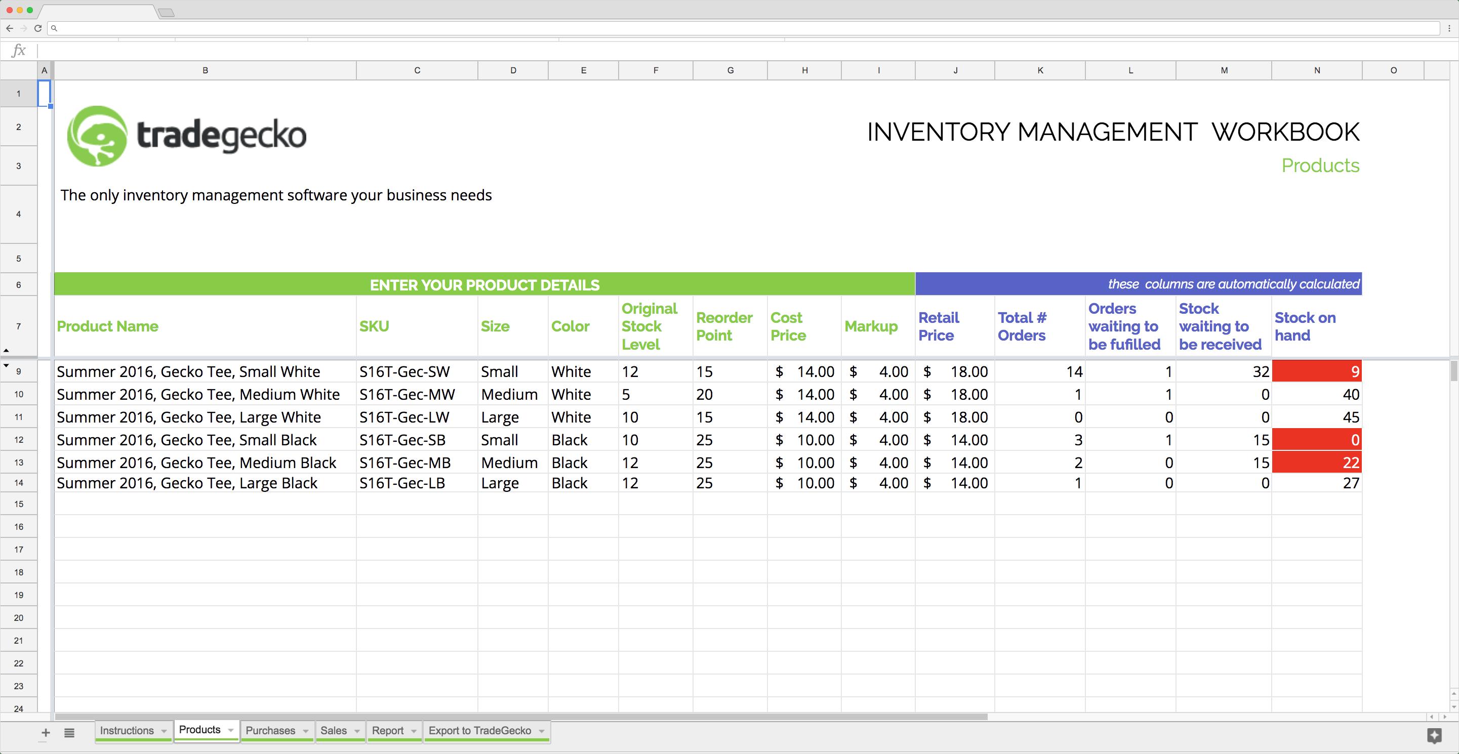 Top 5 free Google Sheets inventory templates - Blog Sheetgo