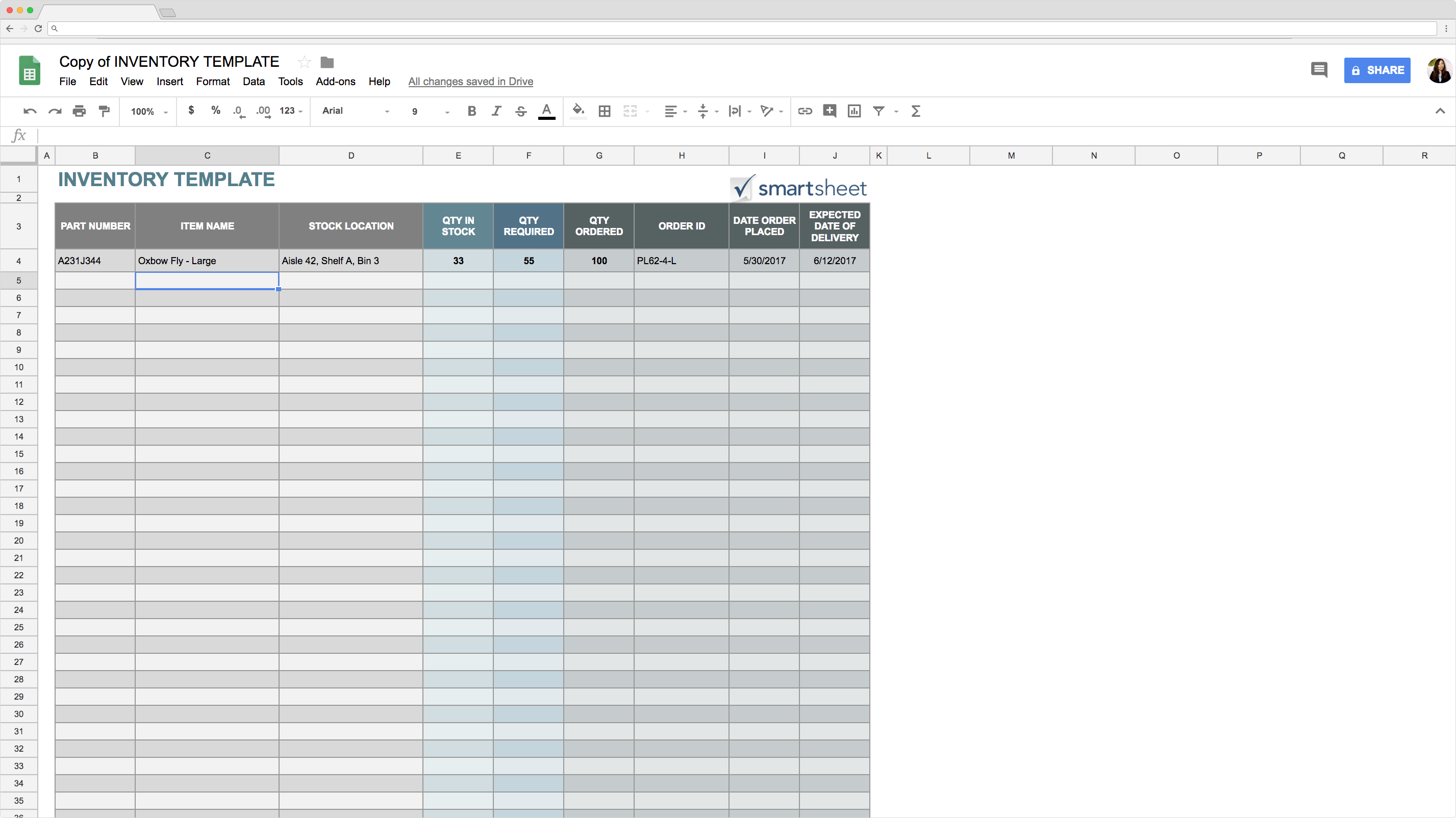 top 5 free google sheets inventory templates