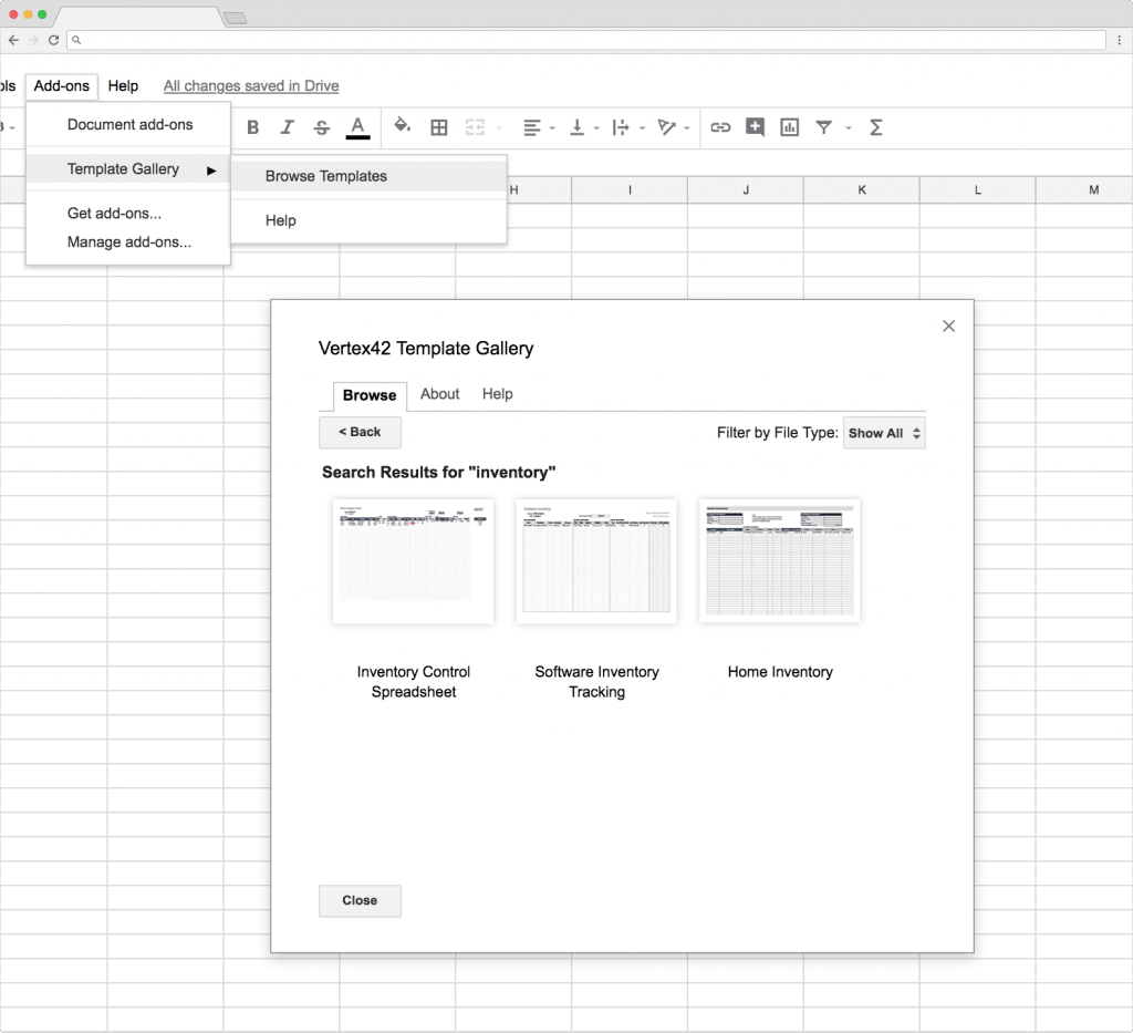 Click Inventory Control Spreadsheet And Then Copy To Drive Open File Through The Different Tabs In Sheet Explore Functions Of This
