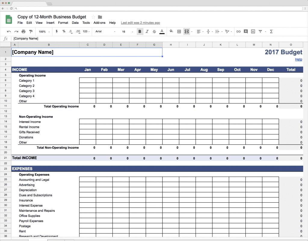 finance templates