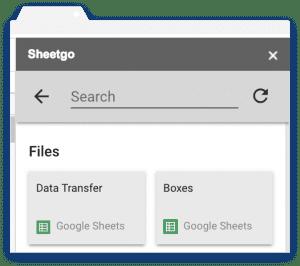 Get Sheetgo