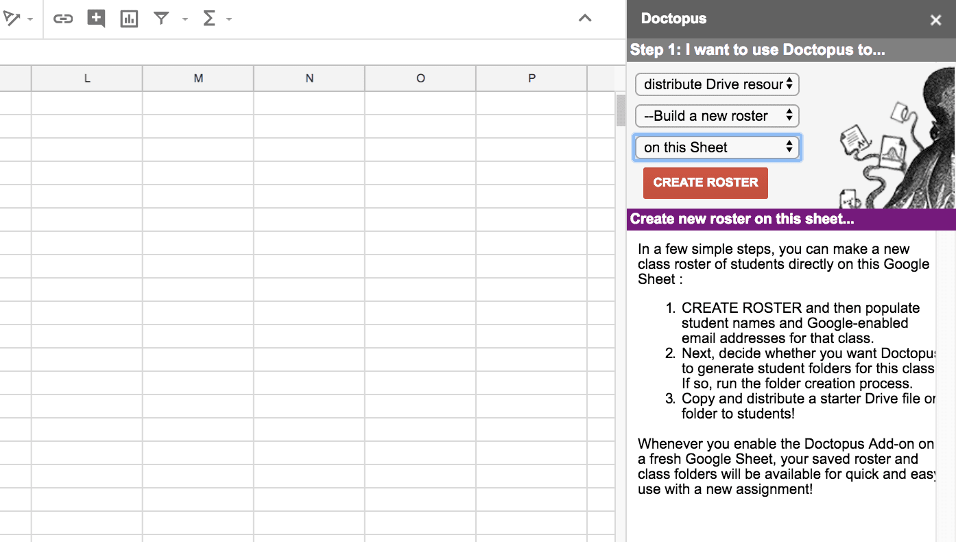 Snapshot of Creating a New Roster in Doctopus