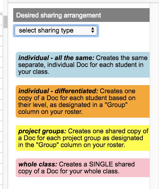 Doctopus: Choosing a Sharing Type