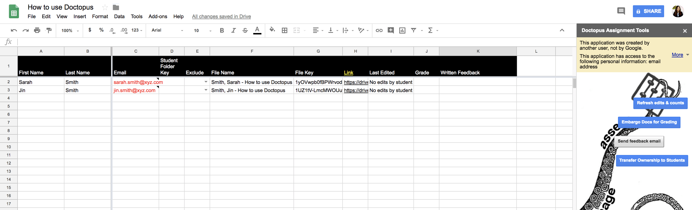 How to use the Doctopus add-on for Google Sheets