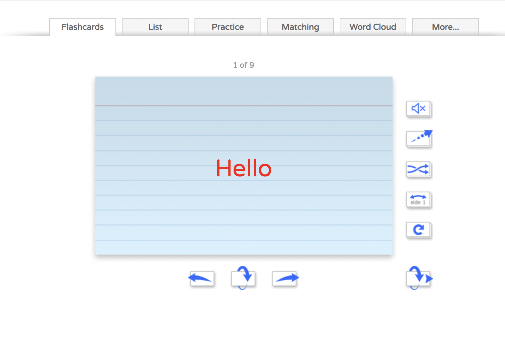 Flippity: Flashcard Saying Hello