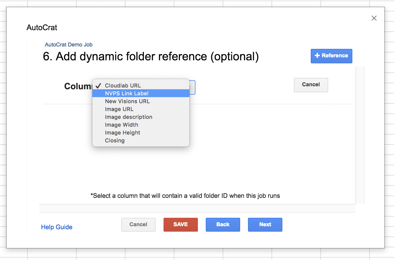 Autocrat Add on: Adding Dynamic Folder Reference