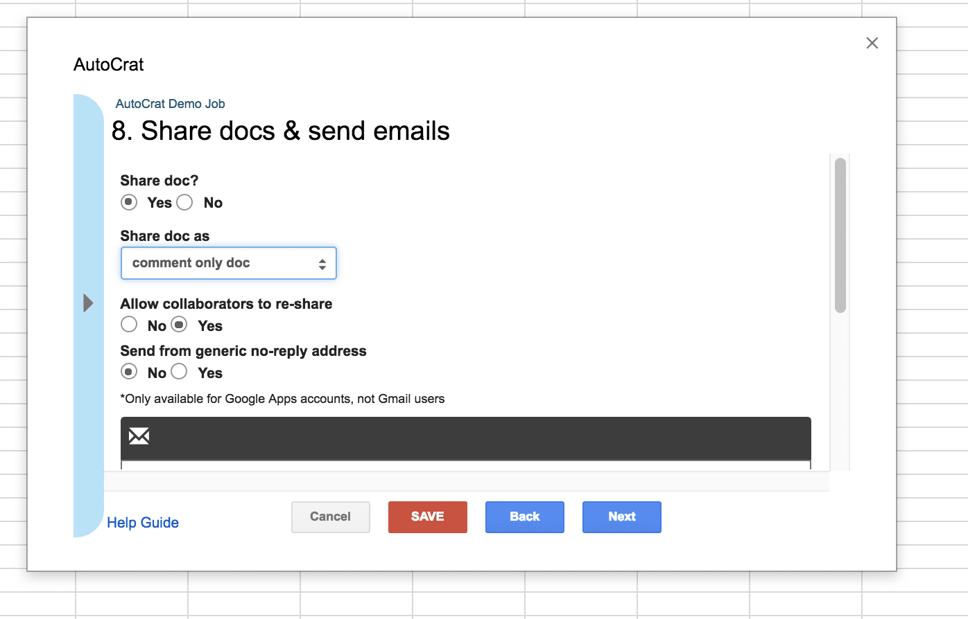 Share Docs and Send Emails