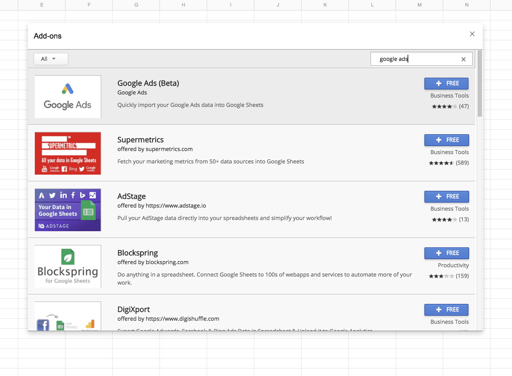 Google Ads add-on