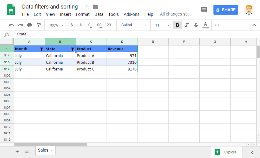 Sorting and Filtering Data: Applying Multiple Filters