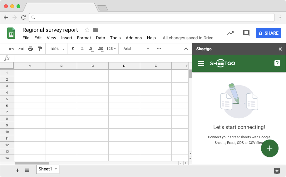 Import filtered data from Excel to Google Sheets: Consolidate Excel Files