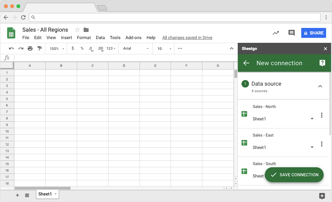 Merge Google Sheets: Selecting Files to Consolidate