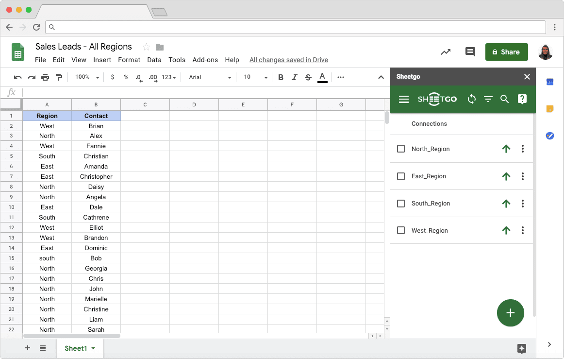 Automatically Export Data: List of Connections in Google Sheets