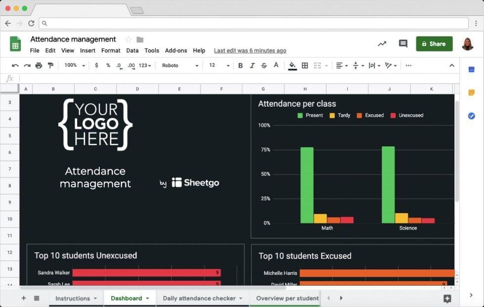 Student Attendance Tracker : Dashboard