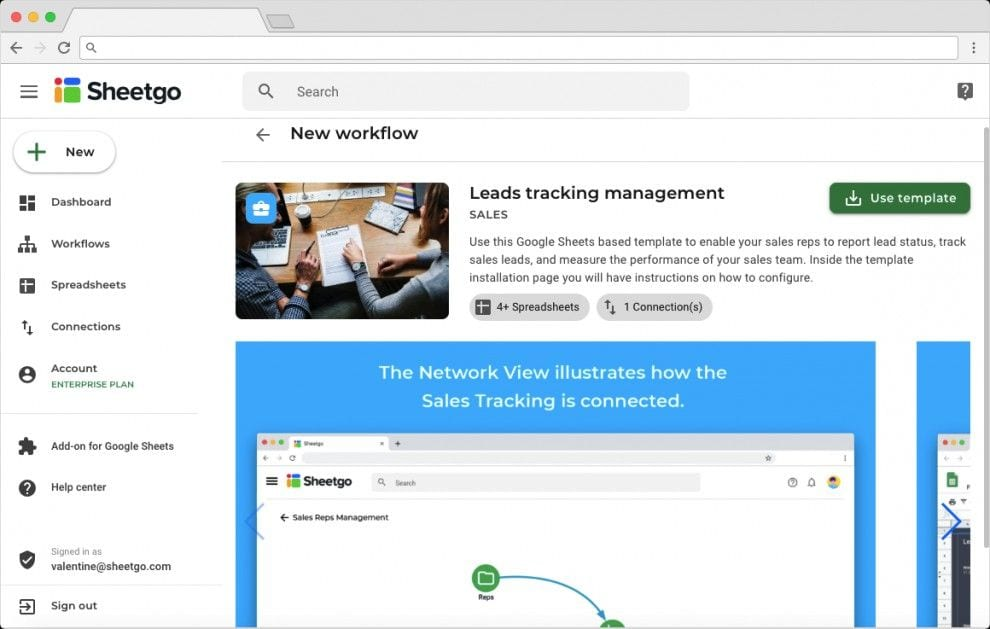 Sales Lead Tracker Template in Google Sheets: Overview