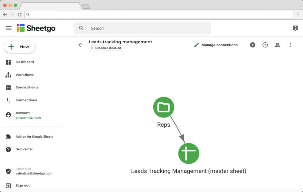 Sales Lead Tracker Template: Network View of Leads Tracking Management