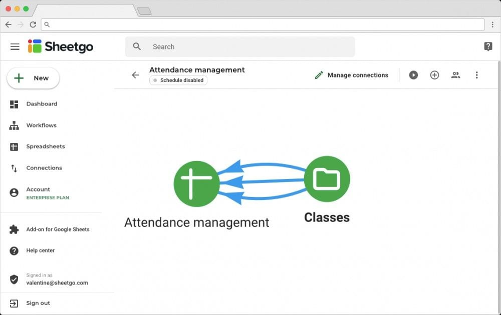 Student Attendance Tracker: Network View of  Workflow and Connections