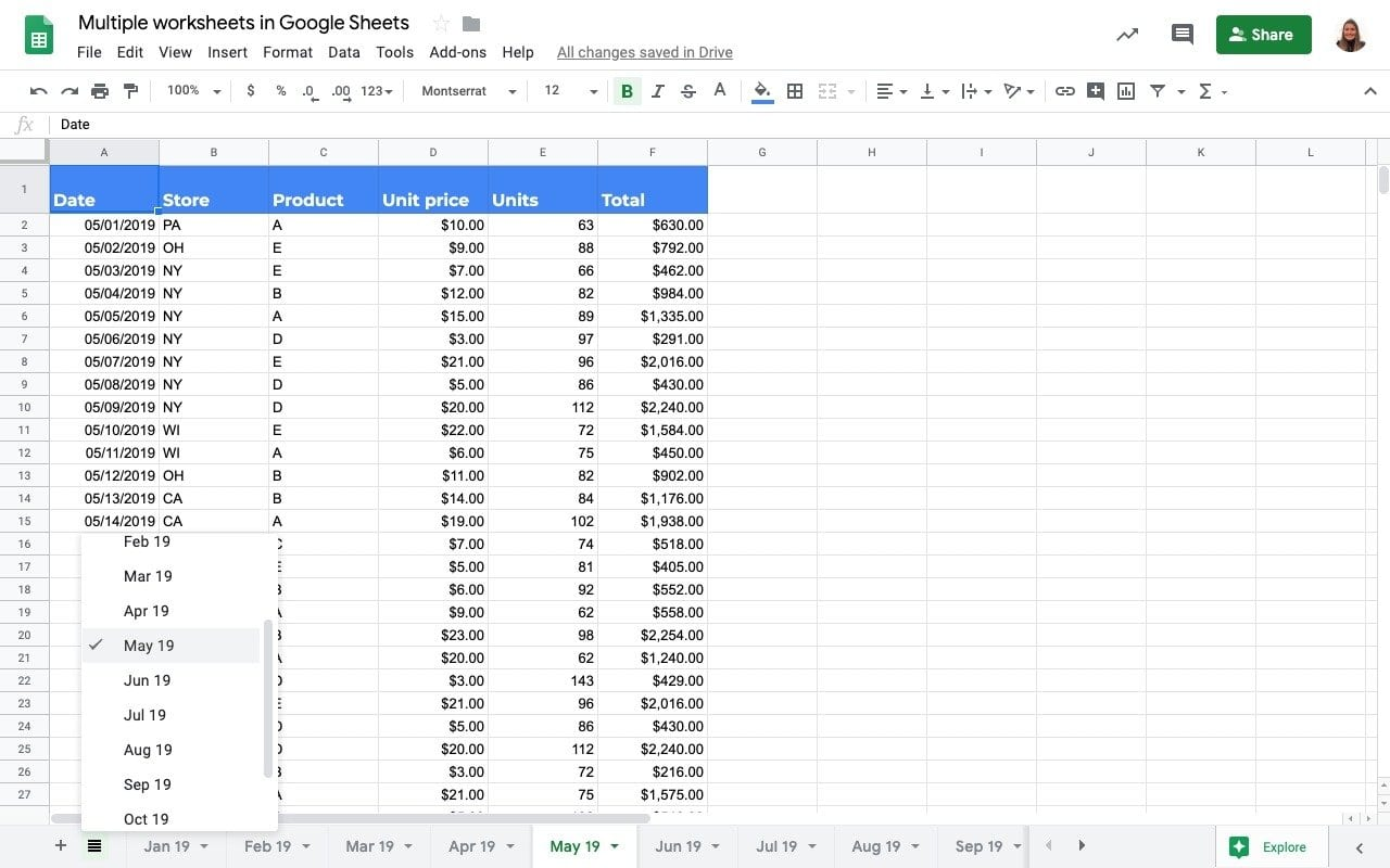 How to work with tabs/sheets in Google Sheets   Sheetgo Blog