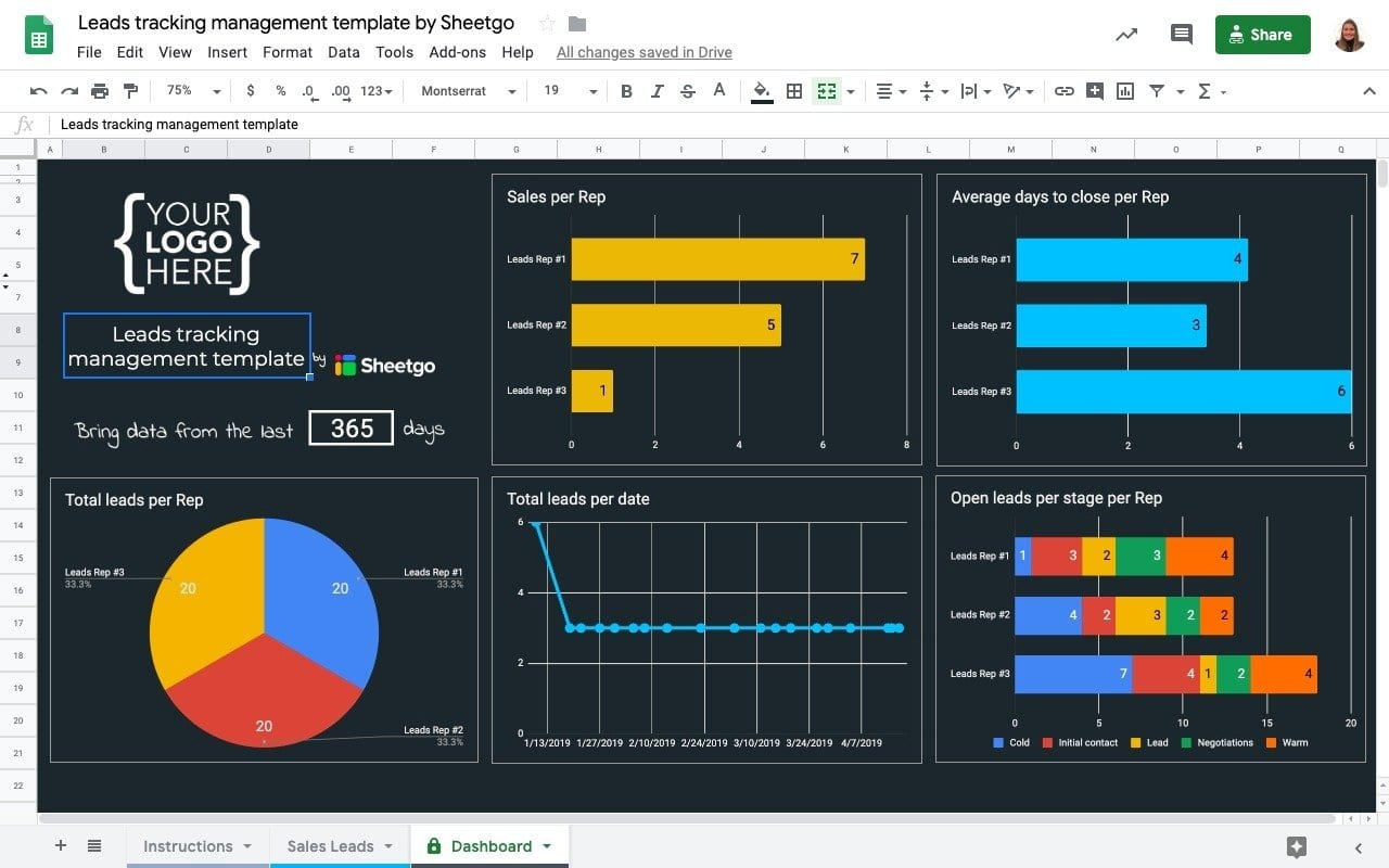 Excel Sales Tracking Template from blog.sheetgo.com