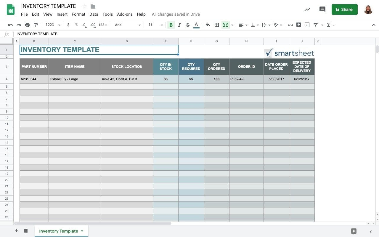 Top 5 Free Google Sheets Inventory Template Sheetgo Blog