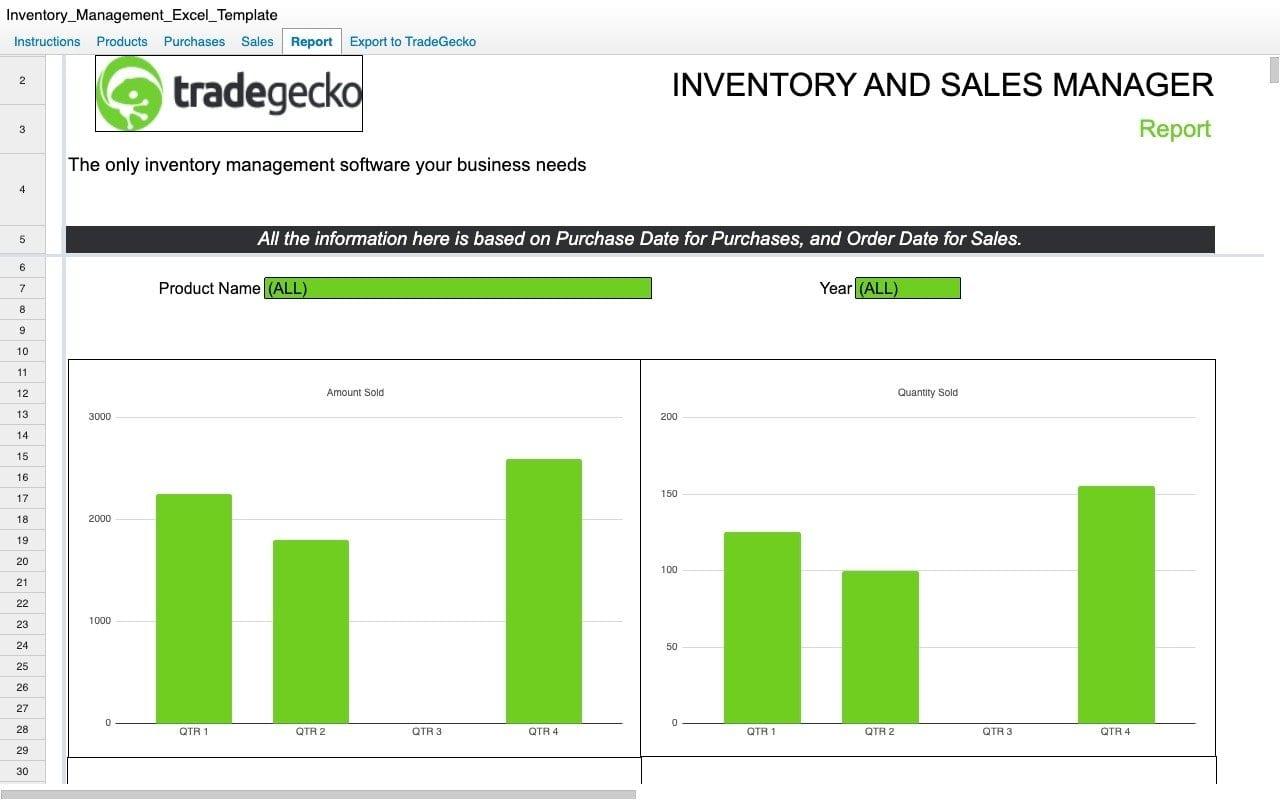 Tradegecko Inventory Management Workbook