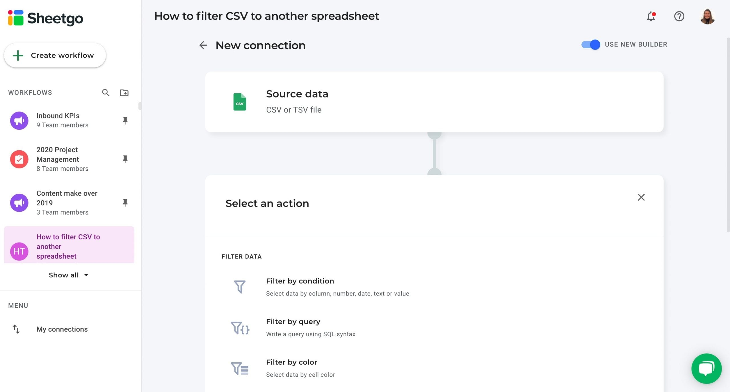 Filter CSV filter by condition