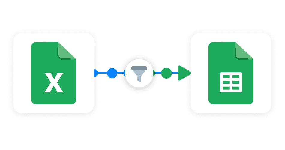Filter Excel to Google Sheets Sheetgo