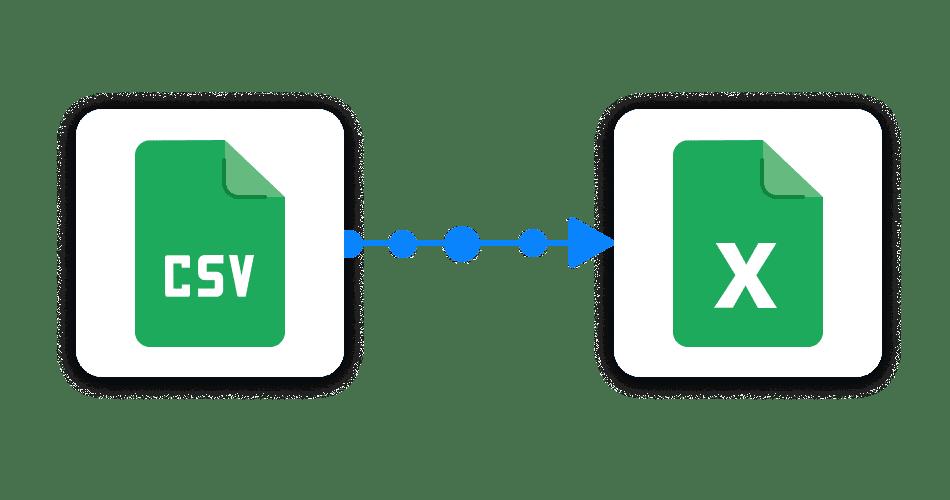 Link CSV to Excel files Sheetgo