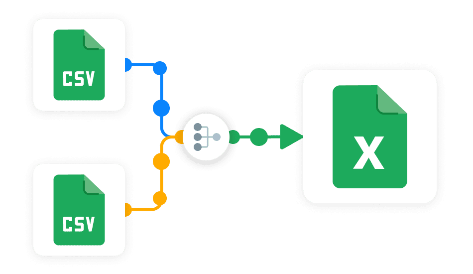 Merge CSV in Excel