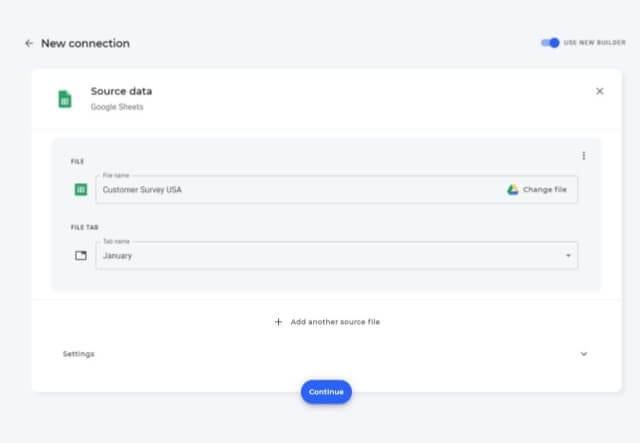 select source data