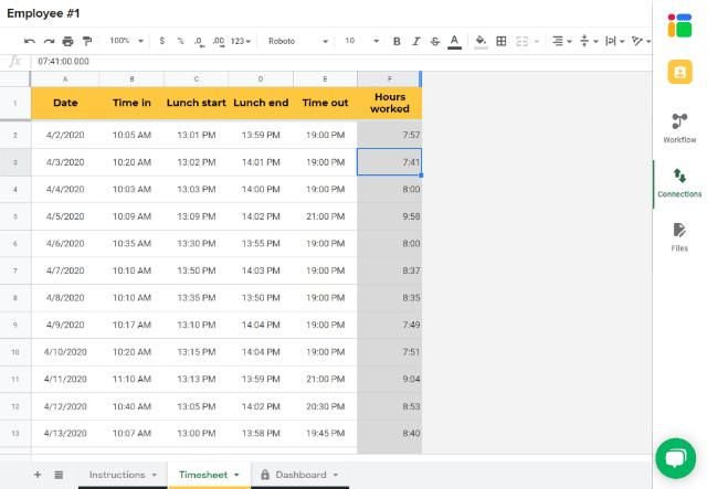 Employee Timesheet Template In Google Sheets Sheetgo Blog