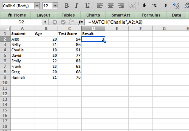 index match excel 2