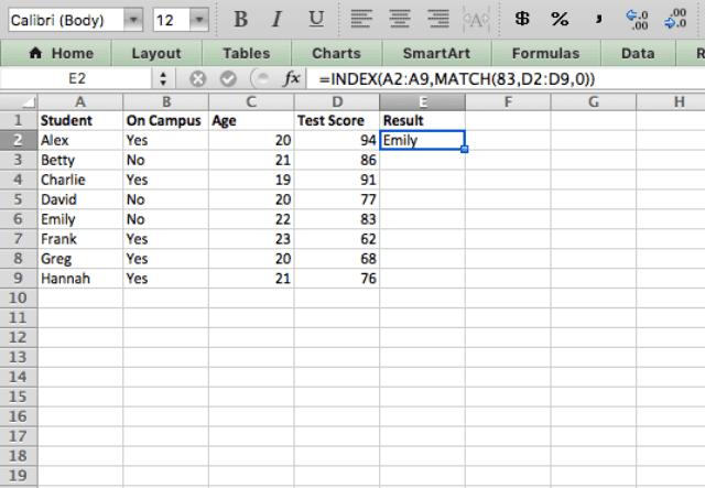 index match excel 7