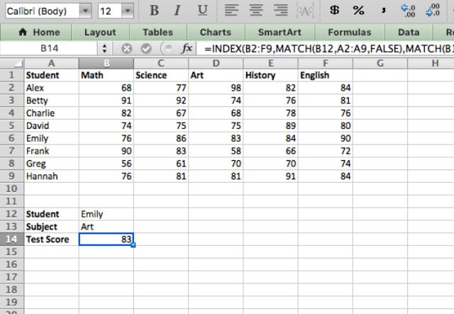 index match excel 8