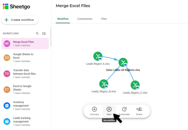 how-to-merge-multiple-excel-files-into-one-run-workflow-update-connections
