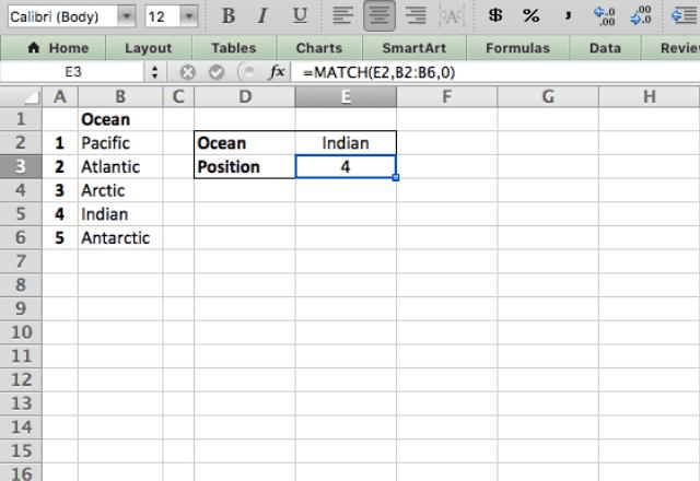 MATCH Excel exact match 1