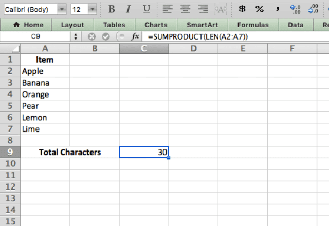 sumproduct excel 3