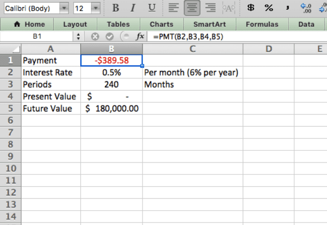 PMT function Excel retirement 6