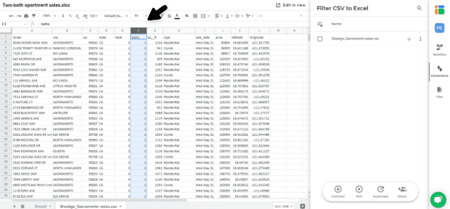 filter-csv-to-excel-connection-complete