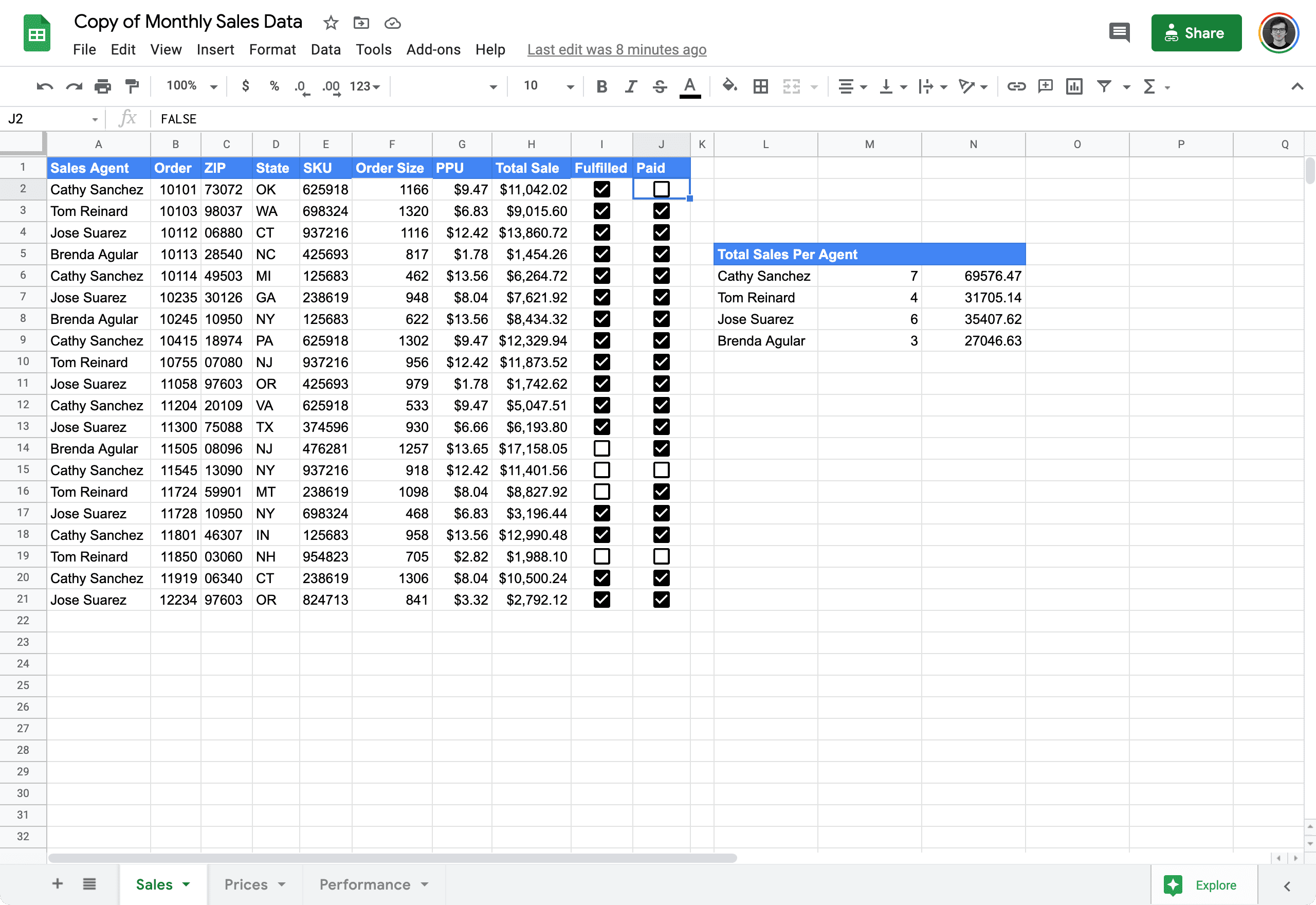 validate input values in Google Sheets 1